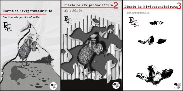 """""""Una travesía por Grutalandia"""", """"El Poblado"""" y """"Exteriorlandia"""". Ilustraciones de Selus Sánchez"""