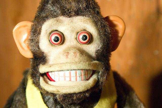 Evil monkey from the movie about the evil monkey that eats people, de Jason Scragz