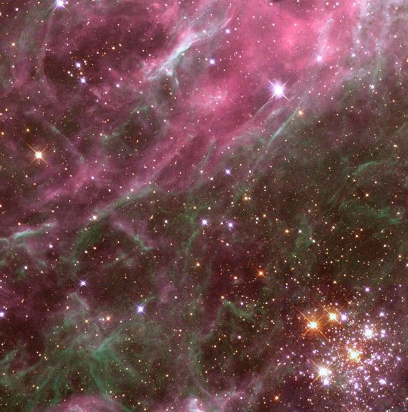 593px Tarantula nebula detail, de ROBERT HUFFSTUTTER